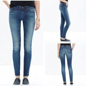 "Madewell Skinny Skinny Jeans 9"" Rise Medium Wash"